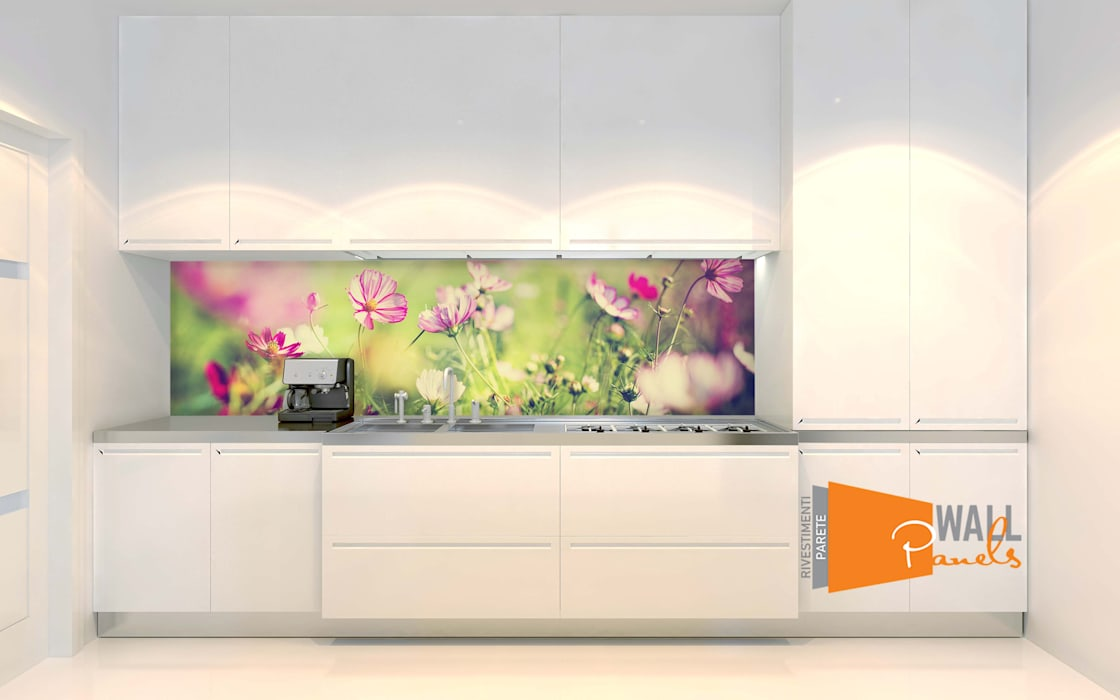 Rivestimento murale cucina: pareti & pavimenti in stile di ...