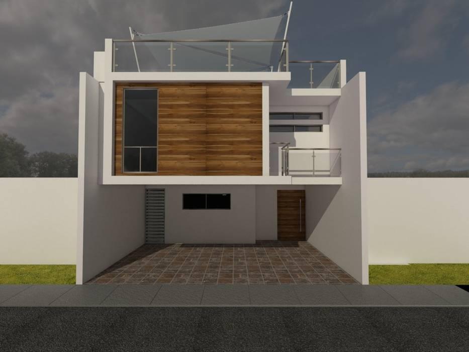 PROPUESTA UNO: Casas unifamiliares de estilo  por Ingenio 💡,