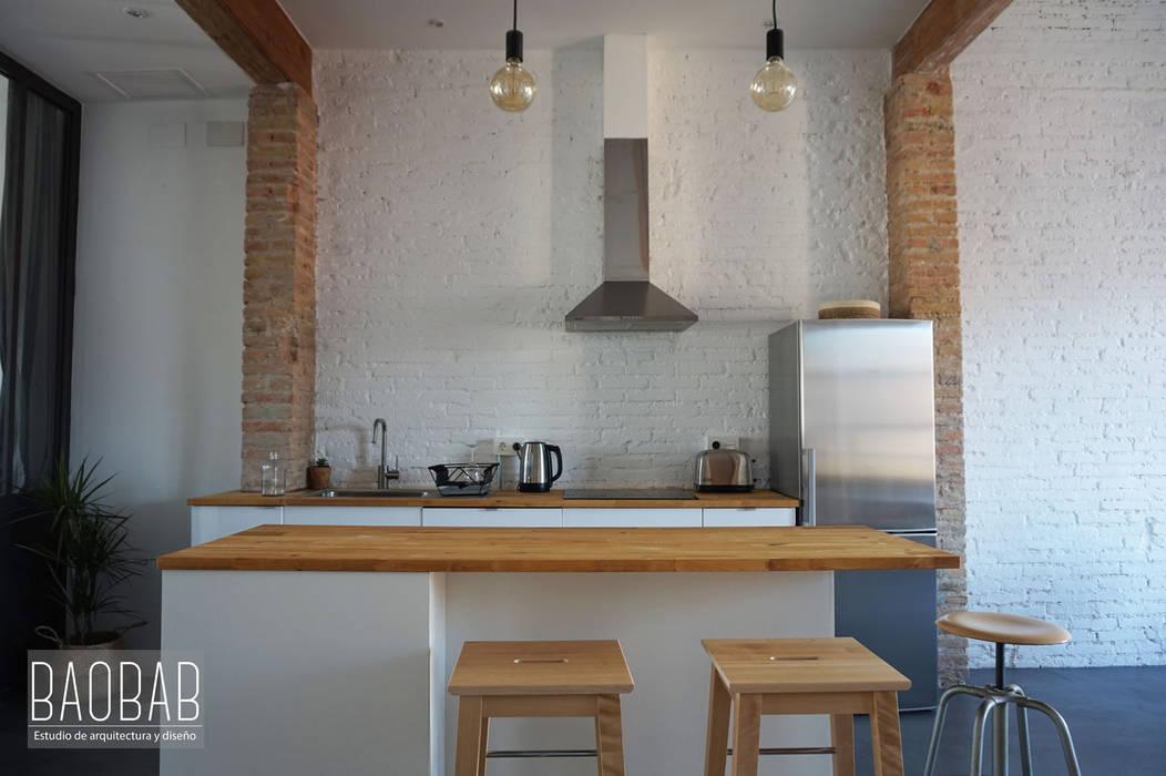 Casa Industrial de Baobab Arquitectura Industrial Madera Acabado en madera