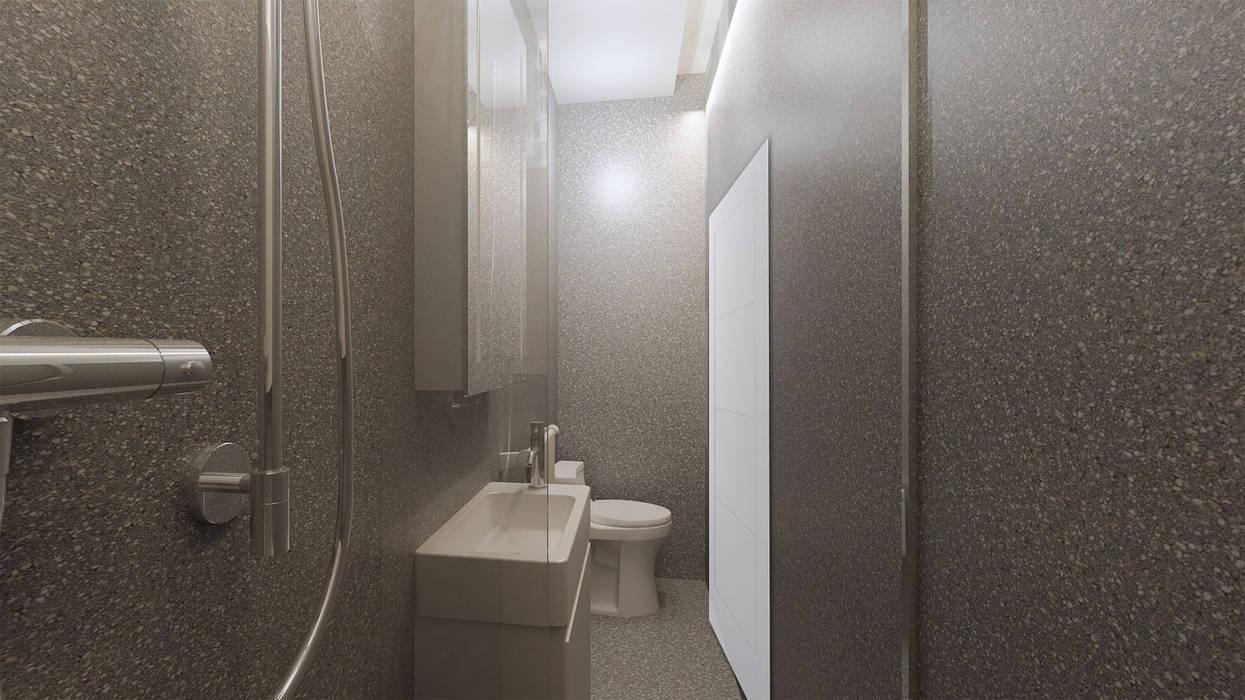 Bathroom: Kamar Mandi oleh Co+in Collaborative Lab,