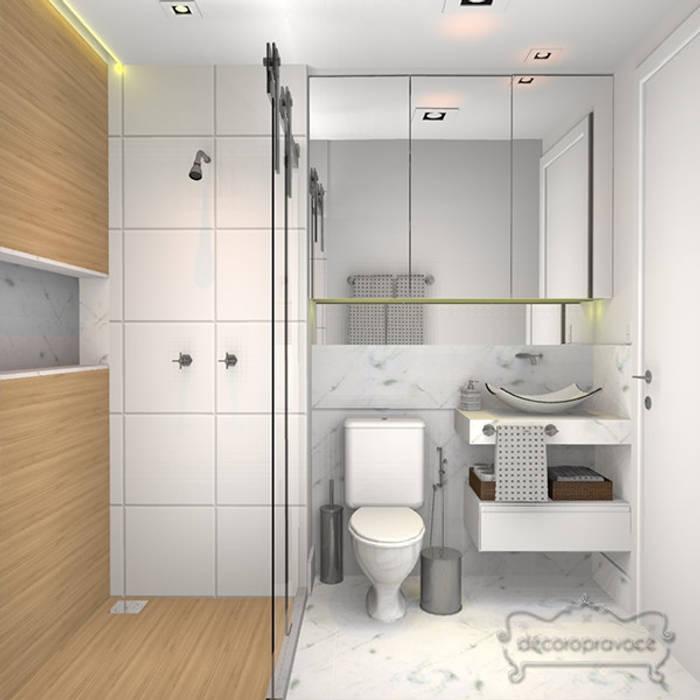 ห้องน้ำ โดย Decoropravocê - Decoração ao seu alcance.,
