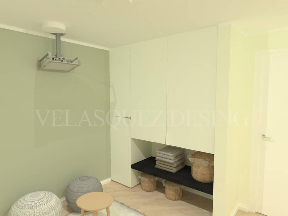 Apartamento Boyaca: Habitaciones de estilo moderno por Johana Velásquez