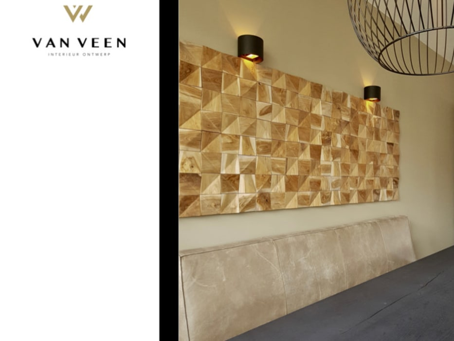 Wandpaneel eetkamer: moderne eetkamer door van veen interior design ...