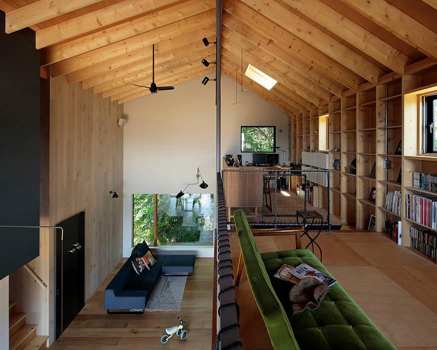 TabHouse インダストリアルデザインの リビング の 稲山貴則 建築設計事務所 インダストリアル 合板(ベニヤ板)