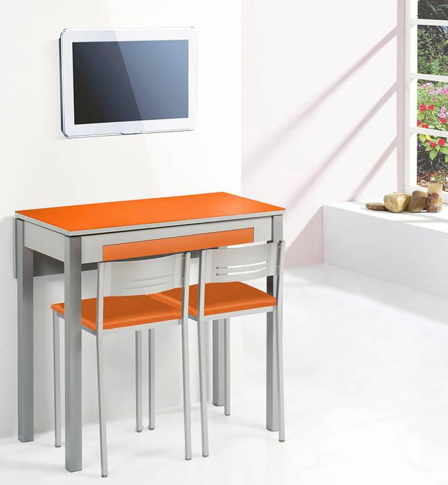 Conjunto mesa cocina y sillas/taburete ala extensible frontal modelo ...