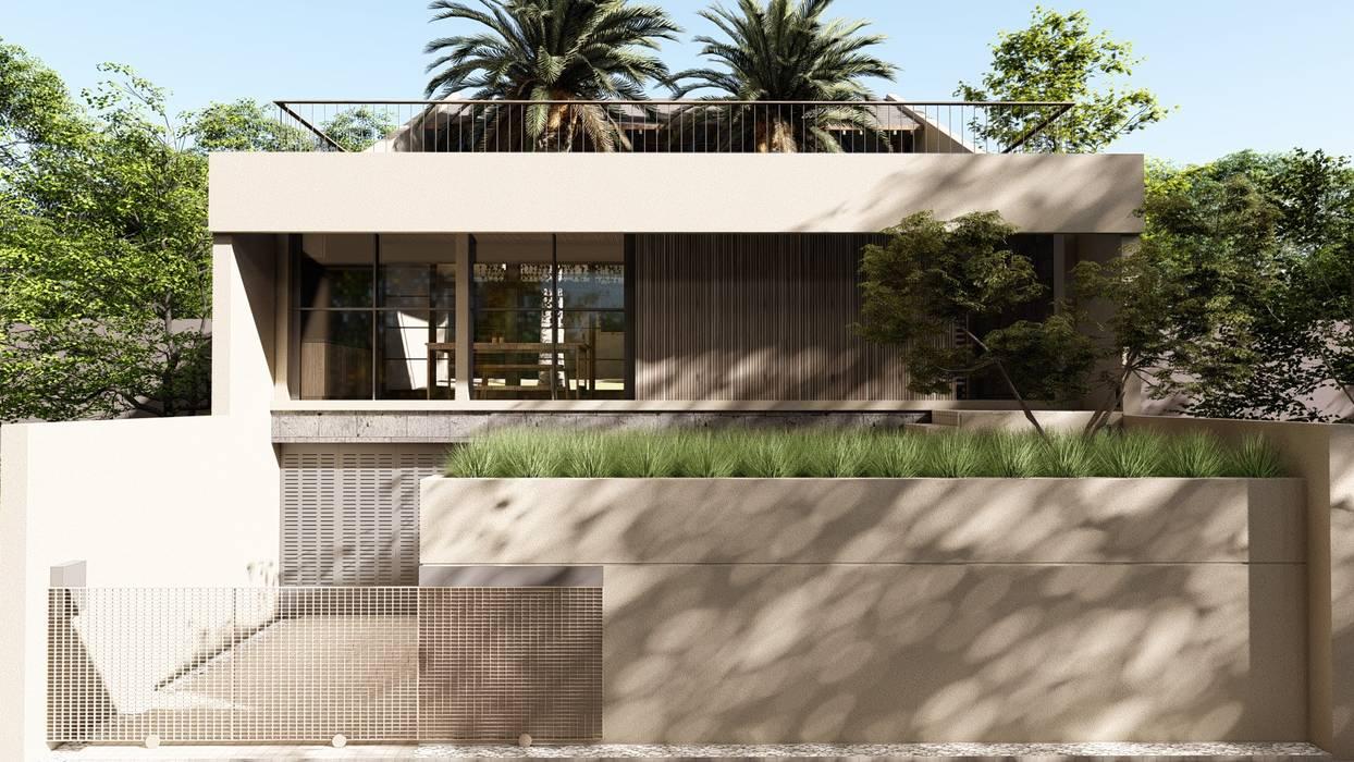 Tampak Depan:  Rumah by alexander and philips
