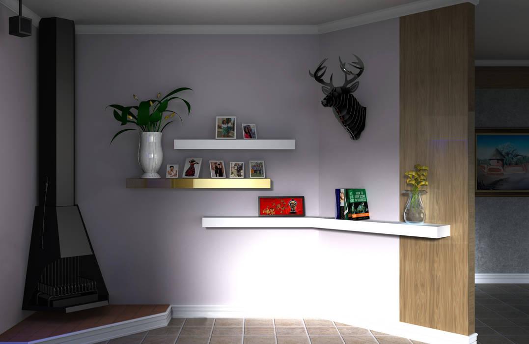 Photo Display:  Living room by Kori Interiors