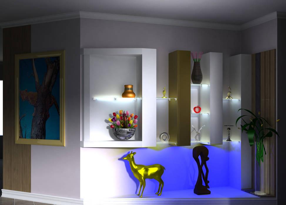 Display wall:  Living room by Kori Interiors