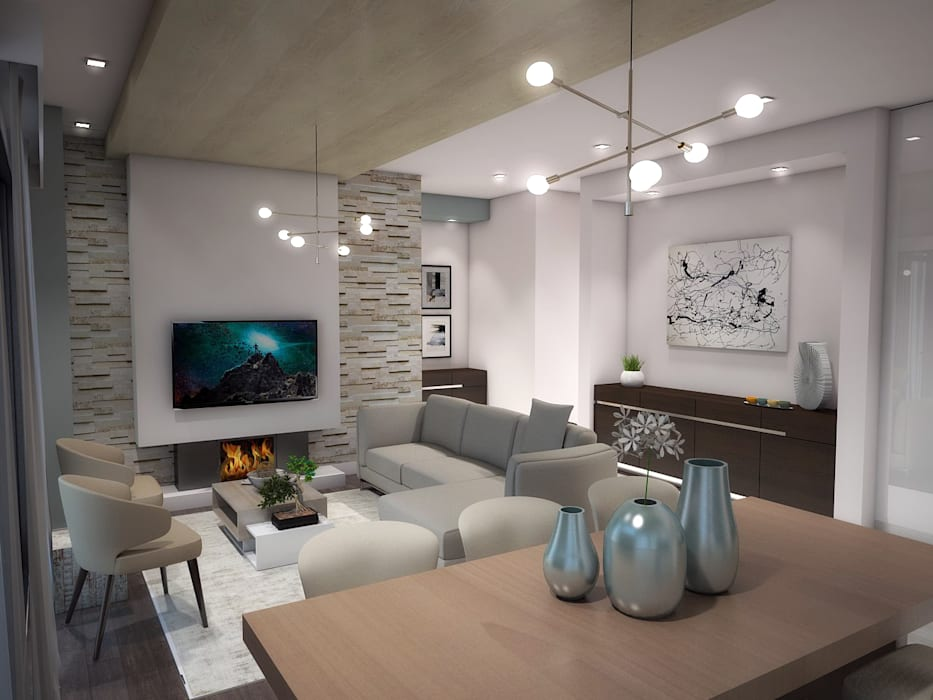 Living room by Kori Interiors, Minimalist