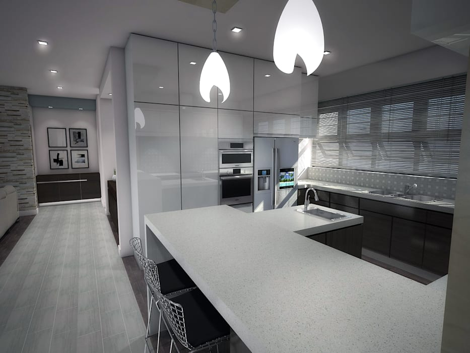 Built-in kitchens by Kori Interiors, Minimalist