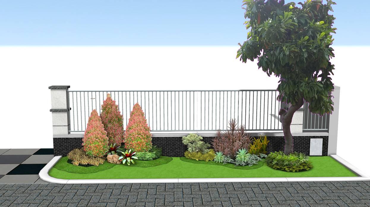 Taman Depan Rumah Minimalis Taman Modern Oleh Tukang Taman Surabaya - Tianggadha-art Modern Bambu Green