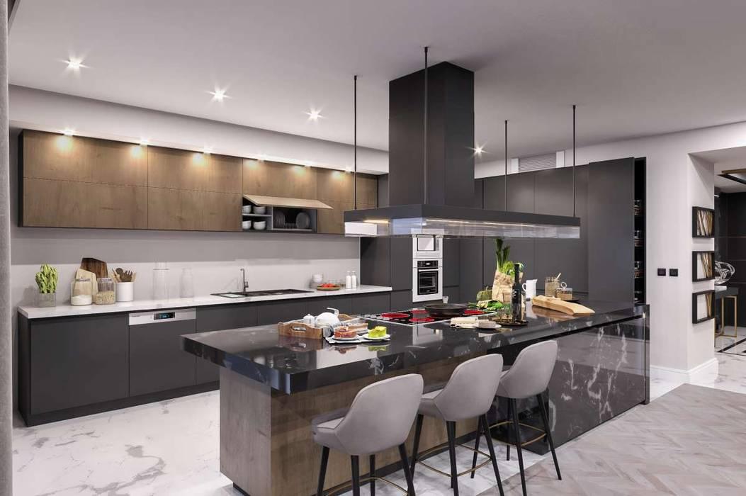 VERO CONCEPT MİMARLIK – Kalafatoglu Marina Residence:  tarz Ankastre mutfaklar