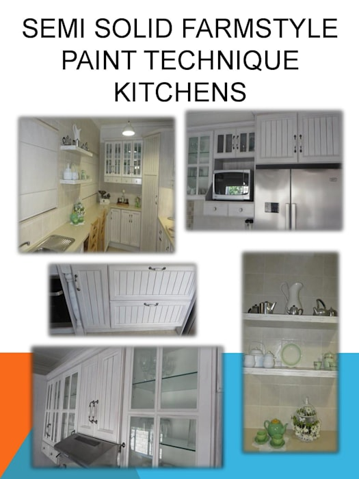 Farmstyle paint technique kitchen by SCD Group Country Solid Wood Multicolored