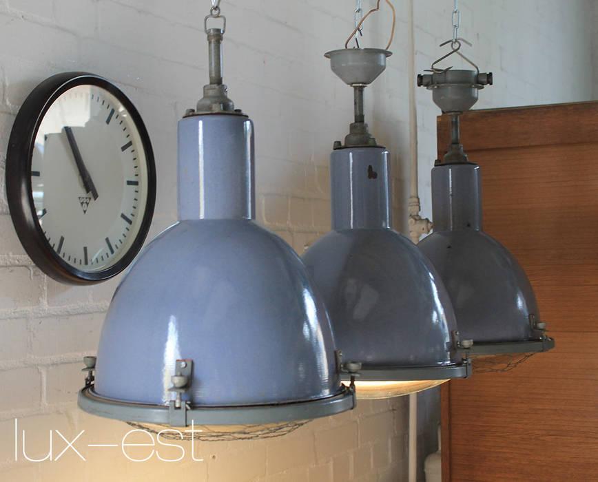 Lux-Est Bar & Club in stile industrial Metallo Blu