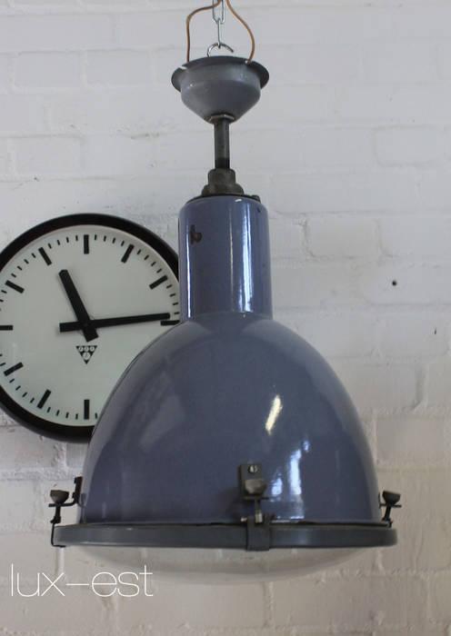 """DOVE"" Fabriklampe Design Industrie Lampe Emaille Blau Vintage Lux-Est Industriale Ladenflächen Metall Blau"