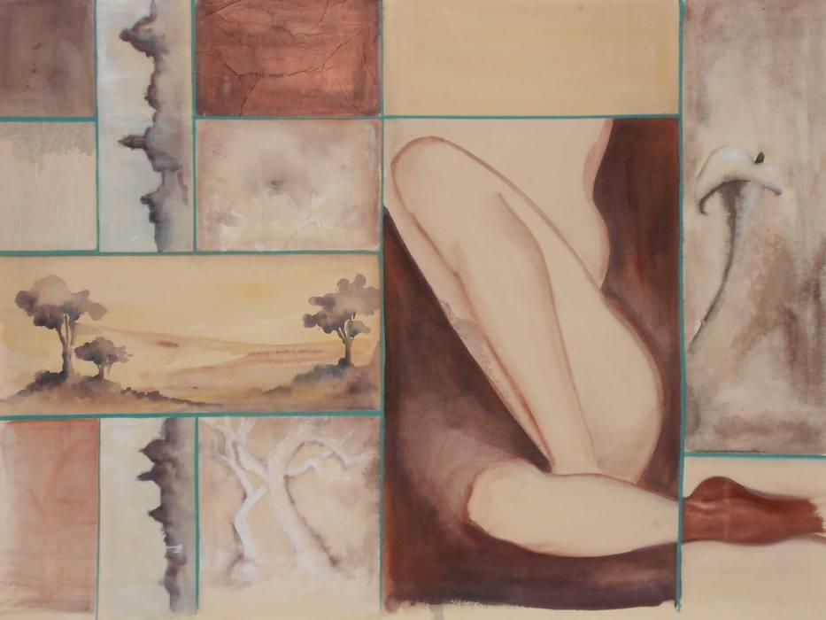 Dipinto ad acrilico di Meraki di Irene Mancini Decorazione d'Interni Moderno
