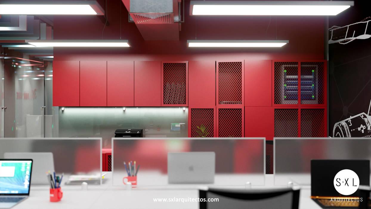 Mueble: Oficinas de estilo  por SXL ARQUITECTOS