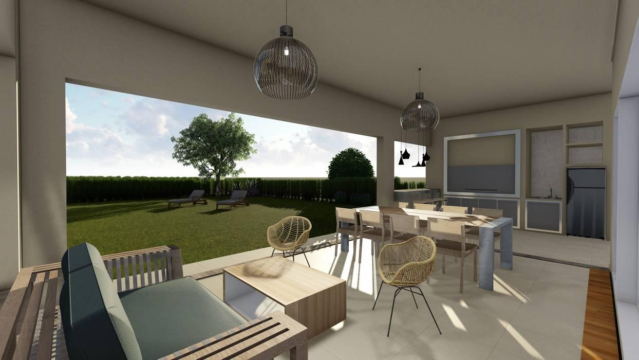 Diseño interior - Vivienda Unifamiliar: Jardines de invierno de estilo  por Triad Group