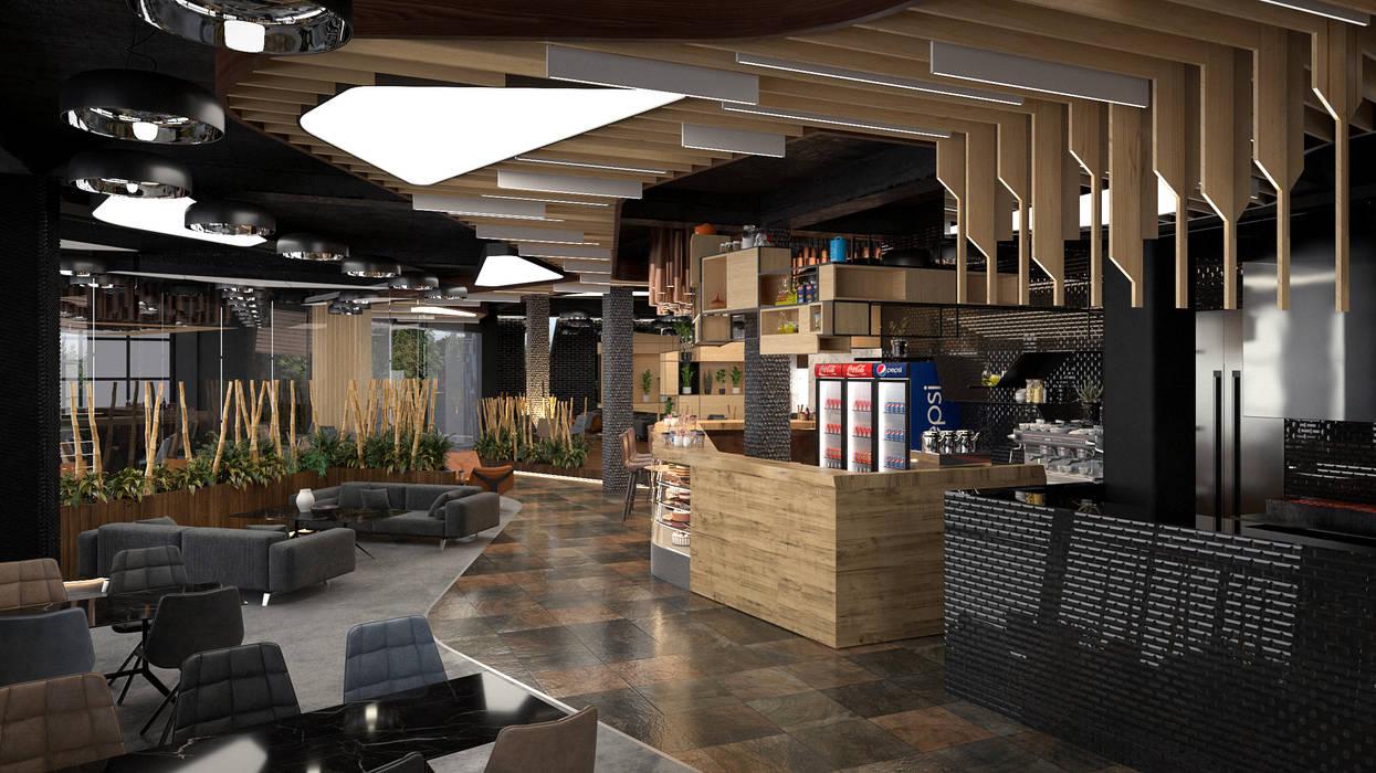Kafe - İç Mekan Modern Yemek Odası Dündar Design - Mimari Görselleştirme Modern