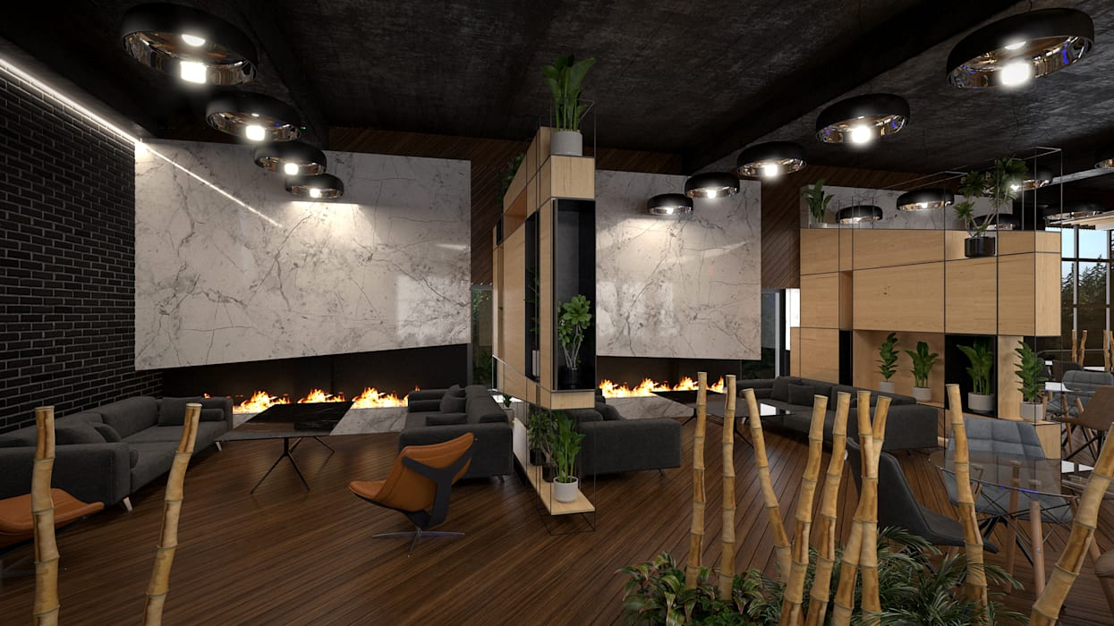 Comedores de estilo  de Dündar Design - Mimari Görselleştirme