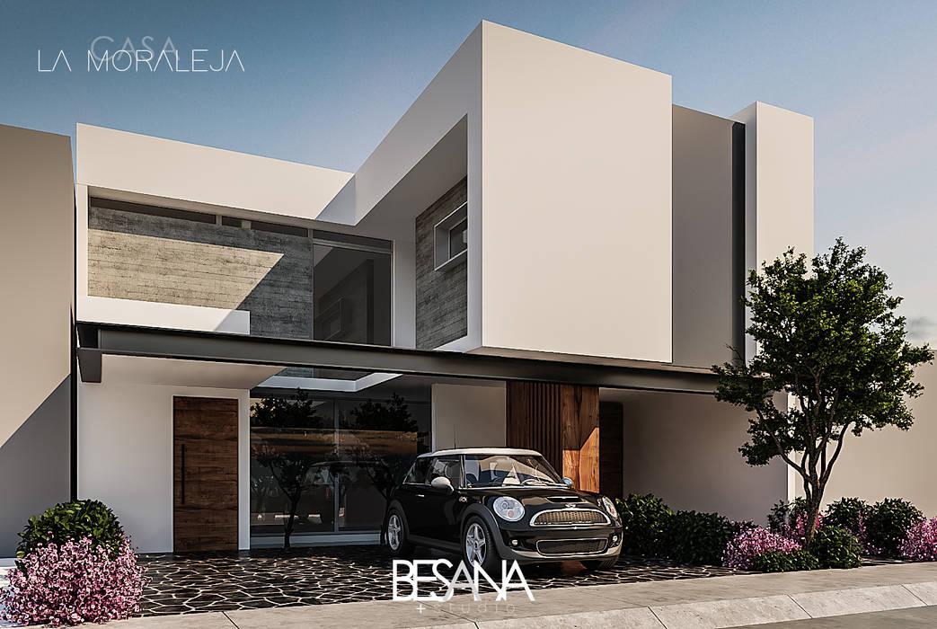 Fachada Principal: Casas de estilo  por Besana Studio,