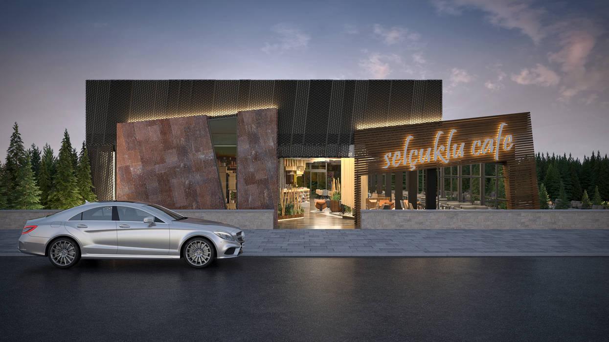 Kafe - Dış Mekan Modern Yemek Odası Dündar Design - Mimari Görselleştirme Modern