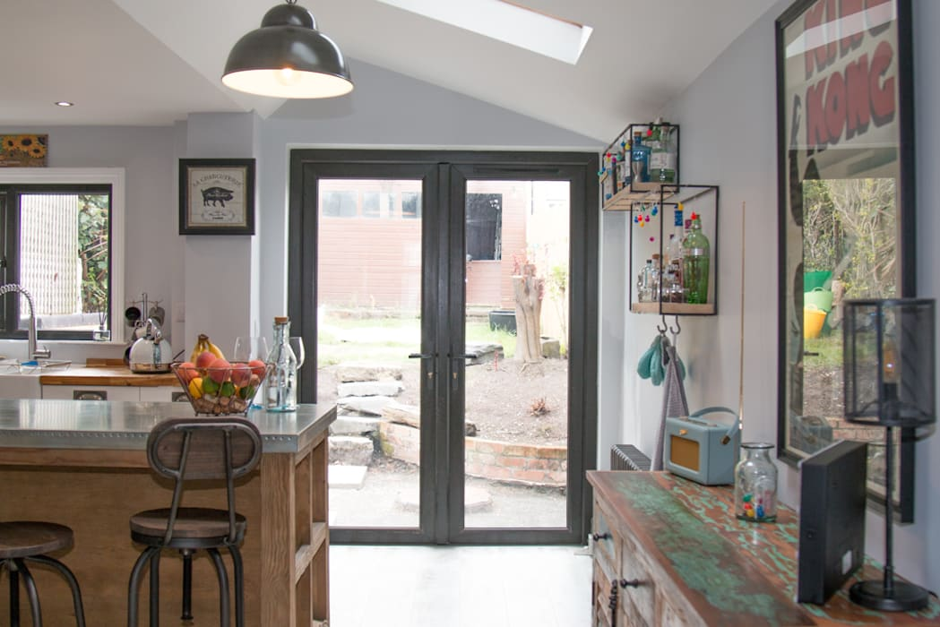 The space benefits from roof lights, french doors and a well sized on