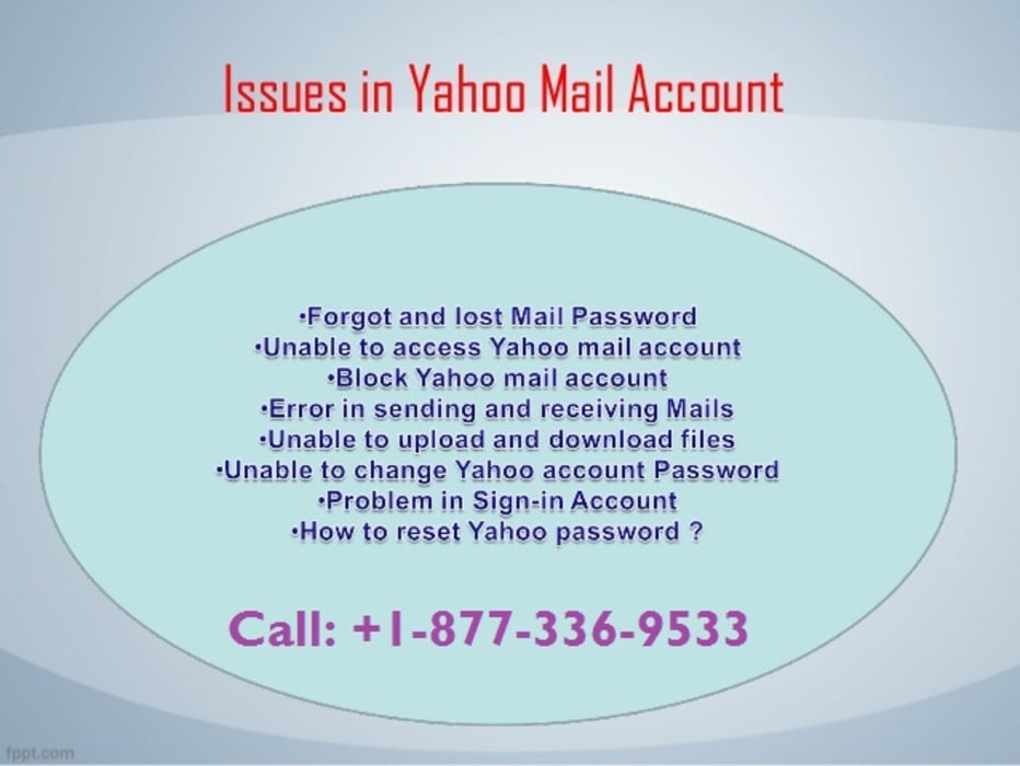 Issues in Yahoo Mail Account | Resolve Yahoo Mail Support +1-877-336-9533:  Windows by Yahoo Mail Customer Support Number +1-877-336-9533