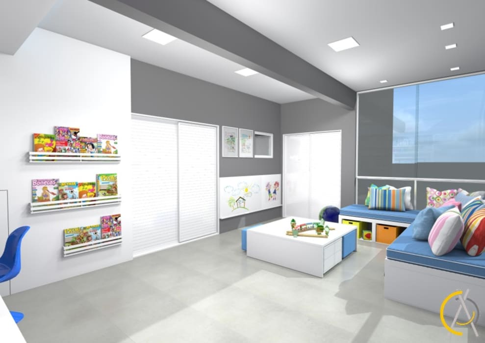 Dormitorios de bebé de estilo  por Arquiteta Carol Algodoal Arquitetura e Interiores, Moderno Derivados de madera Transparente