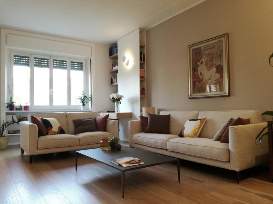Classico moderno: soggiorno in stile di alma design ...