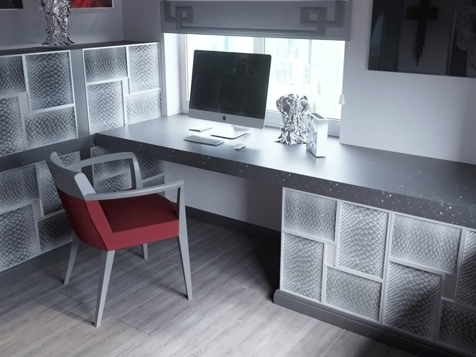 """Кабинет """"Grey cardinal"""" Рабочий кабинет в классическом стиле от Татьяна Третьякова - дизайнер интерьера Классический"""