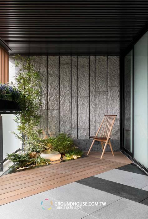 Terrasse de style  par 大地工房景觀公司,