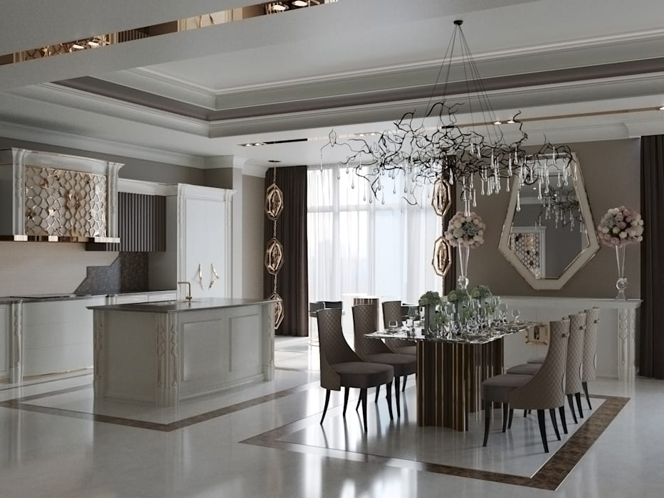 Ruang Keluarga oleh Татьяна Третьякова - дизайнер интерьера , Klasik