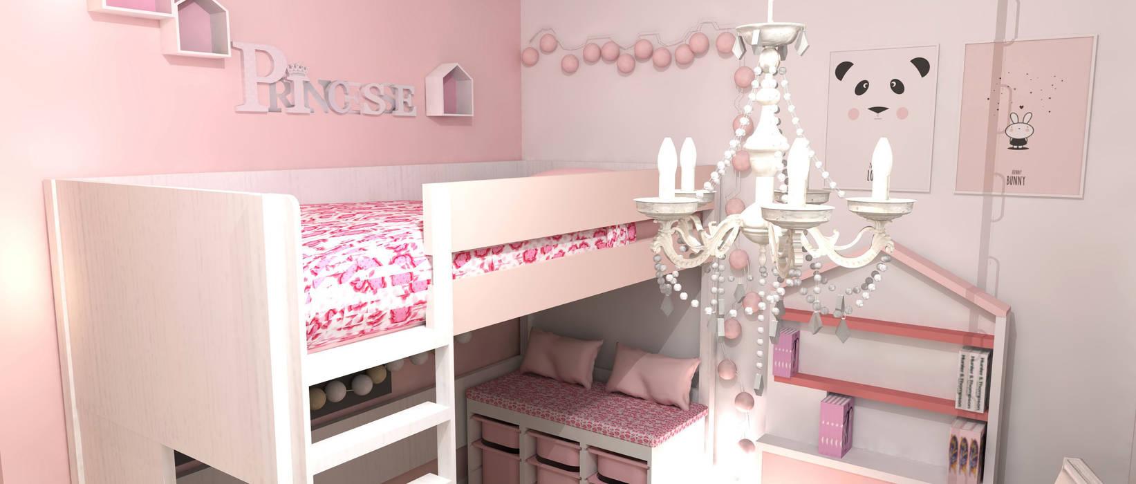 Habitación infantil niña: Habitaciones de niñas de estilo  de M2 Al Detalle