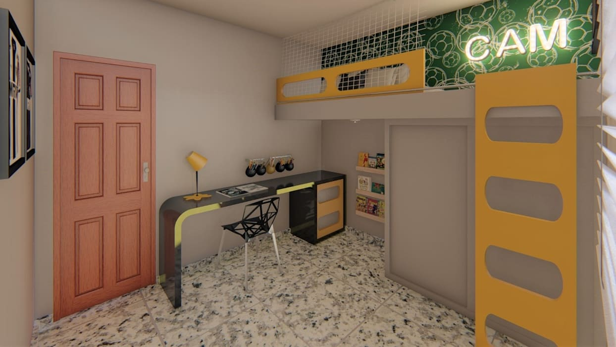 Chambre d'enfant moderne par Fark Arquitetura e Design Moderne