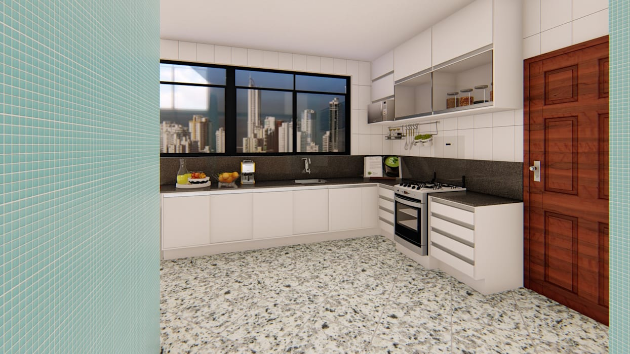 Cozinha : Armários e bancadas de cozinha  por Fark Arquitetura e Design,