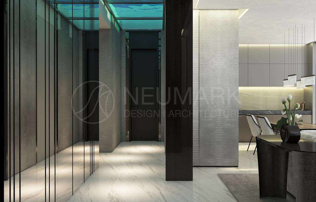 Modern Corridor, Hallway and Staircase by Anton Neumark Modern