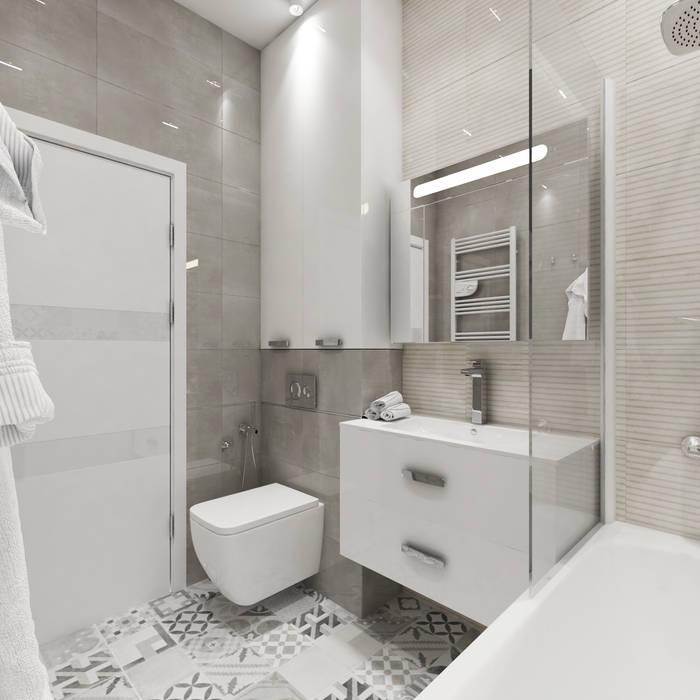 Projekt mieszkania dla młodego mężczyzny: styl , w kategorii Łazienka zaprojektowany przez Design studio TZinterior group,