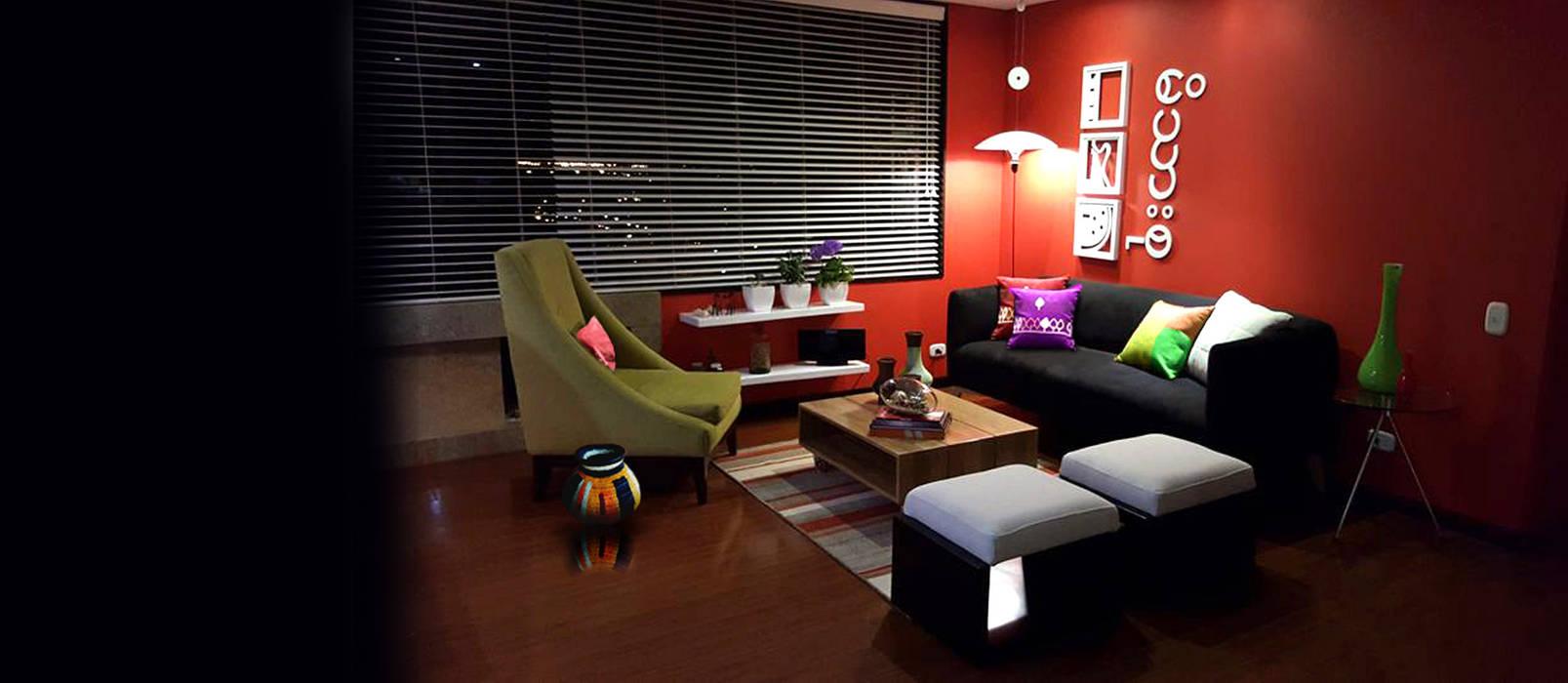 propuesta de decoración interior: Salas de estilo  por Omar Interior Designer  Empresa de  Diseño Interior, remodelacion, Cocinas integrales, Decoración, Moderno Madera Acabado en madera
