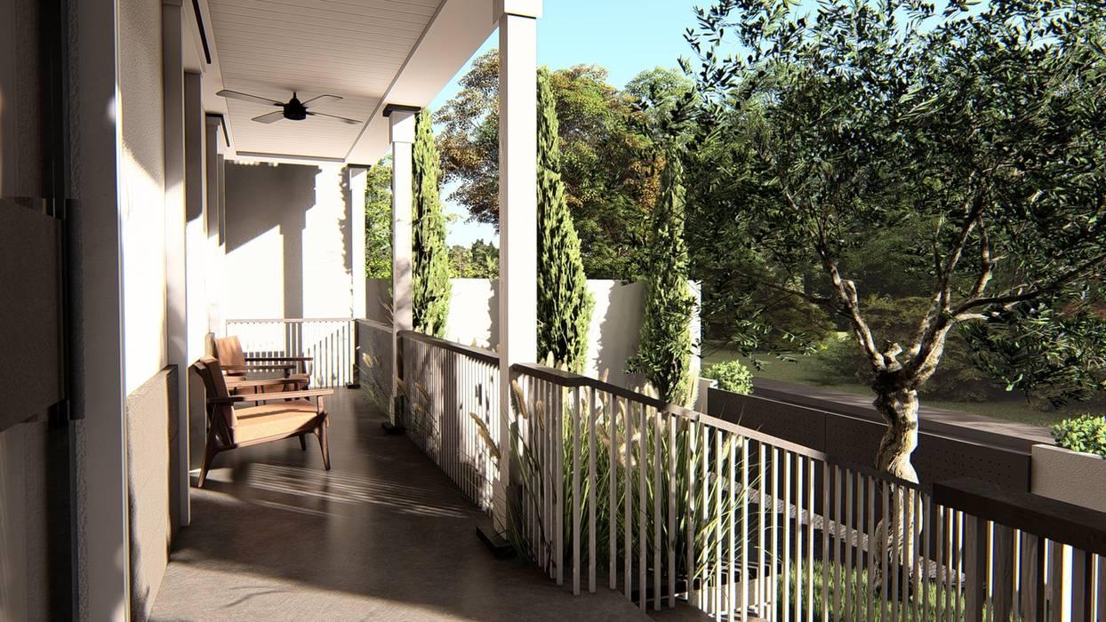 Porch: Teras oleh alexander and philips, Klasik Kayu Wood effect