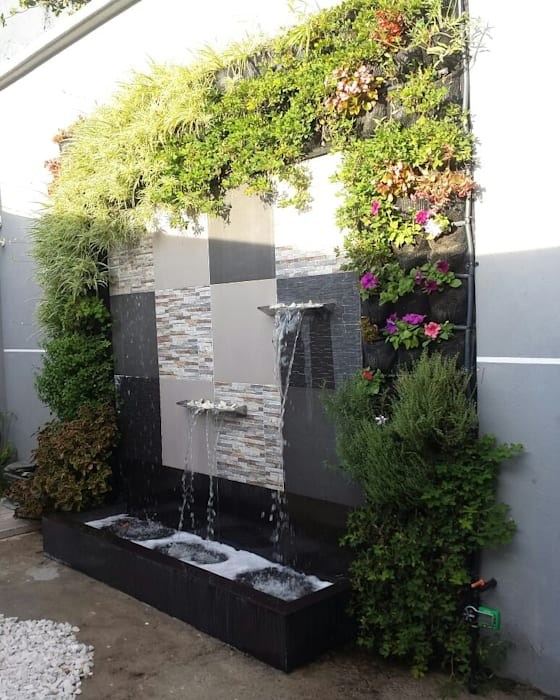 Jardín Vertical: Casas ecológicas de estilo  por Globo Natural