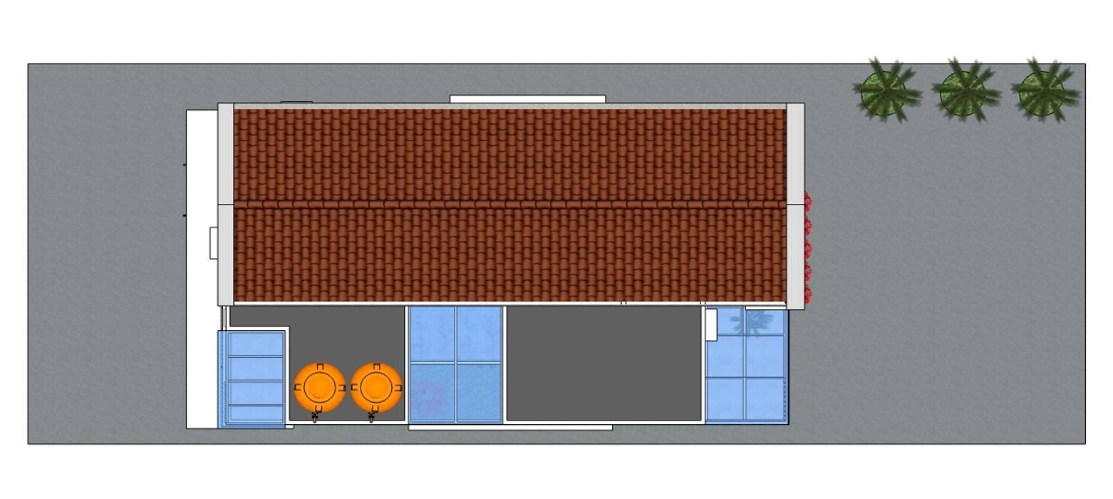 Private House MODE KARYA Atap gable Keramik Brown
