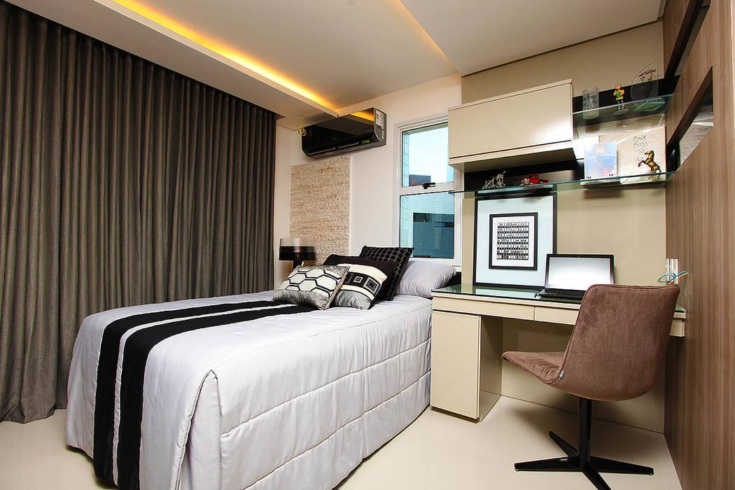 Apartamento Cond. Maison Isabel: Quartos  por RI Arquitetura
