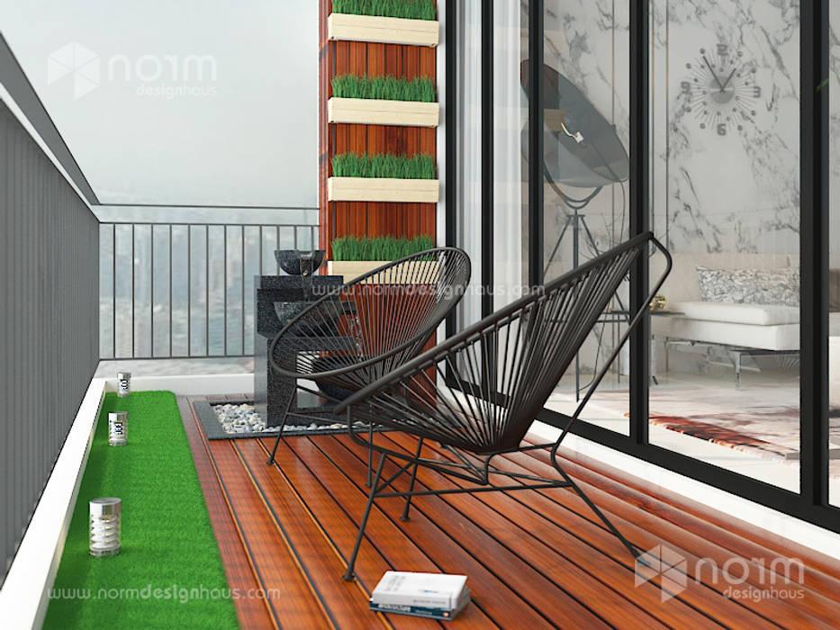 Home design of Residence 22, Mont Kiara Modern style gardens by Norm designhaus Modern