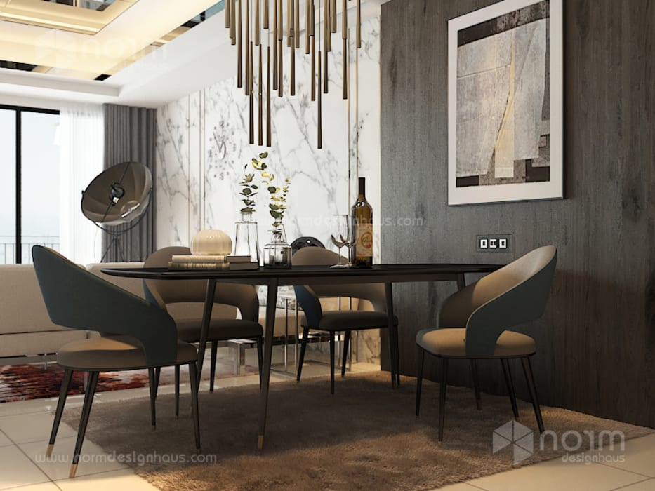 Residence 22, Mont Kiara Modern dining room by Norm designhaus Modern