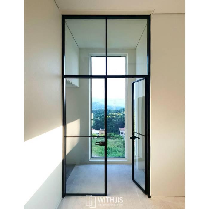 ALU-SW 양개스윙도어 WITHJIS(위드지스) 유리 문 알루미늄 / 아연 검정