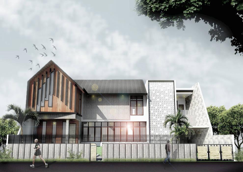 โดย Scande Architect ทรอปิคอล คอนกรีต