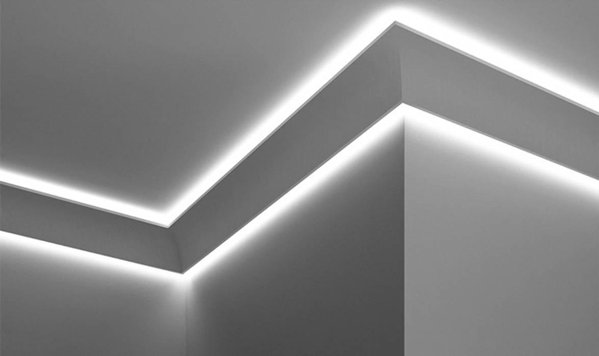 Cornice a doppio taglio di luce diffusa led a soffitto u el