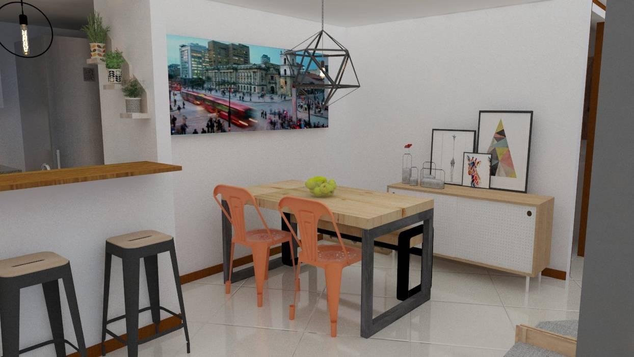 comedor personalizado Comedores de estilo escandinavo de Naromi Design Escandinavo Madera Acabado en madera
