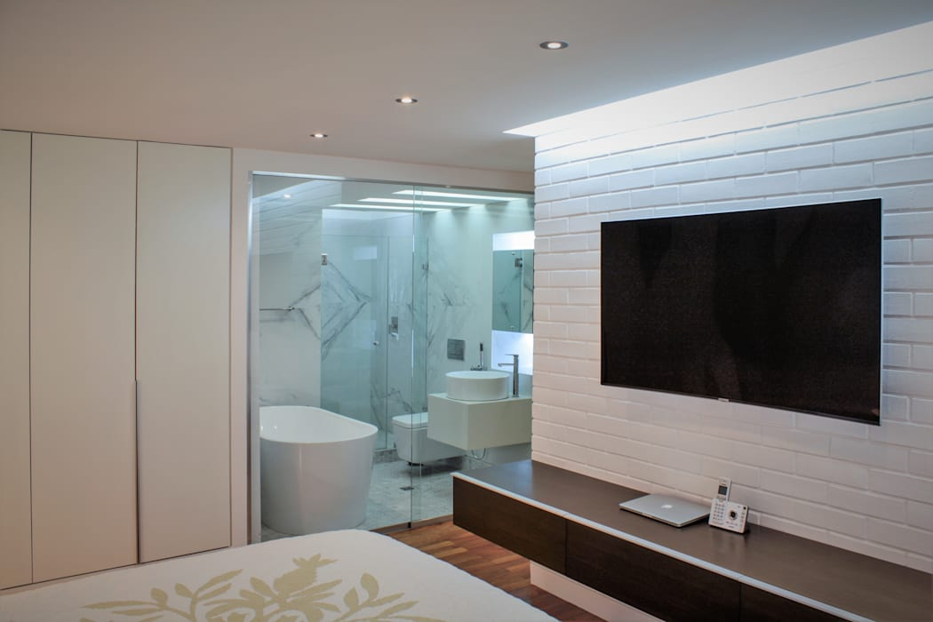 Apartamento en Chulavista: Cuartos de estilo  por RRA Arquitectura